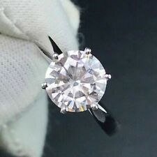 GIA Certified 1.01CT Natural Round Diamond Beautiful Engagement Gold Ring D-VS2