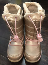 Lands End Girls Insulated Winter Snow Boots Size 10