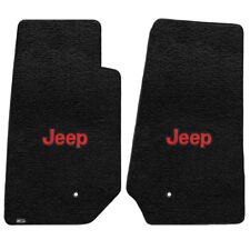 FOR Jeep WRANGLER UNLIMITED 2007-2013 Front Floor Mats BLACK RED JEEP LOGO 60006