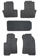 Black Rubber All Weather Floor Mats for 2007-2016 Jeep Compass Custom Fitment