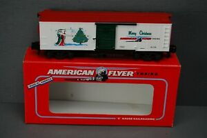 Gilbert American Flyer S Scale 1996 Merry Christmas Holiday Car 6-48325