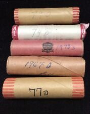 Lot of 5 Unopened Lincoln Memorial Cent Rolls Various Dates