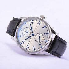 43mm Parnis SeaGull 2542 Power Reserve Automatic Movement Men's Mechnical Watch