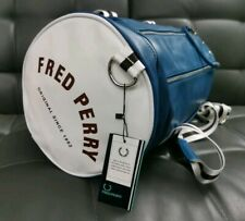 Fred Perry Classic Barrel Bag Blue/white Holdall Gym