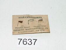 Antique Ajax Catswhisker 1 Phosphor Bronze 1 German Silver Philmore Radio