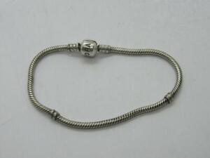 Genuine Pandora ALE Sterling Silver Charm Bracelet