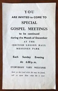 British Legion Hall Messines Park Derry Londonderry Flyer