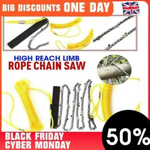 """High Reach Limb Rope-and-Chain Saw with 48"""" Chain Branch Tree Saw Trimmer Rope"""
