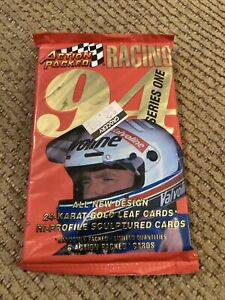 1994 ACTION PACKED SERIES ONE NASCAR RACING UNOPENED SEALED PACK WITH 6 CARDS
