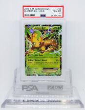 Pokemon GENERATIONS LEAFEON EX 10/83 HOLO FOIL CARD PSA 10 GEM MINT #28314341