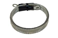 "3 foot - 1/2"" Ground Braid Jumper Strap with 1/4"" connectors MADE IN USA!"