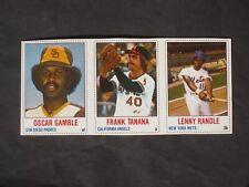 1978 Hostess Baseball Panel # 100-102 Gamble Tanana Randle NM