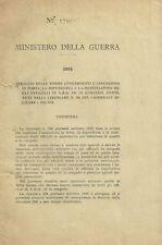Ministero della Guerra 1933 Stralcio delle Norme per l'Assunzione degli Ufficial
