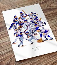 1986 New York Mets World Series Collage Poster Baseball Illustrated Print Art