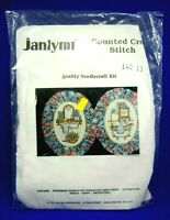 Janlynn Counted Cross Stitch Kit Powder Room Pair