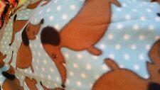 Dashound aqua dog crate   baby  toddler car seat  fleece blanket 36x30