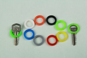 8 * New Hollow Silicone Key Cap Covers Topper Keyring Key Case With Bly Braille