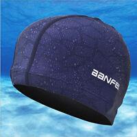 Adult Men Women Long Hair Swimming Cap Waterproof Nylon Bathing Swim Pool Hat