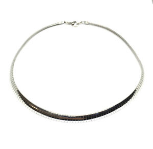 hypoallergenic stainless steel 8mm omega chain 18 inch necklace