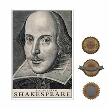 "13""×19"" Historic Decorative Art Poster Shakespeare Portrait Picture Drawing Face"