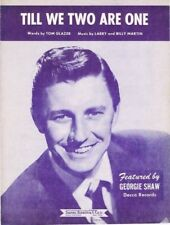 Till We Two Are One, Georgie Shaw photo, 1953 Sheet Music