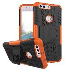 Carcasa Híbrida 2 Piezas Exterior Naranja para Huawei Honor 8 Funda Cobertura