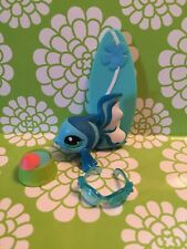 1 Littlest Pet Shop Blythe Hawaii Tropical Teal blue Fish #2455 WITH ACCESSORIES