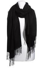 Nordstrom Tissue-Weight Wool Cashmere Wrap Black NEW Retail $99.00
