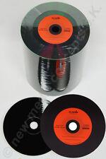 Vinyl CD Rohlinge Carbon,100  in Cake,700 MB zum archivieren, Dye schwarz Orange