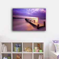 40×60×3cm Beach Side Wharf Canvas Print Framed Wall Art Home Decor Painting VI