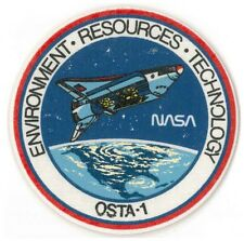 NASA PATCH '81 vtg OSTA-1 payload Space Shuttle Columbia STS-2 silk screened