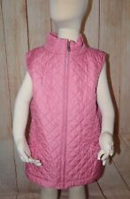 Brooks Brothers Fleece Girl's Quilted Pink Vest Size Large