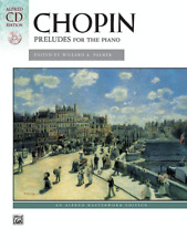"""Chopin """"Preludes For The Piano"""" Music Book/Cd-Piano-Brand New On Sale Songbook!"""