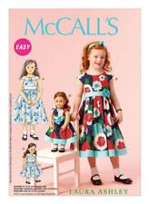 "McCall's Sewing Pattern M687  Girls' 2-5 and 18"" Dolls' Matching Raglan Dresses"
