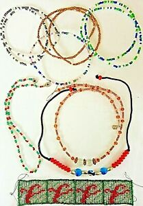 Bundle 11 x Tiny Bead Bracelets, Friendship, Necklace, hand-crafted VGC