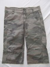 21 capri pants military grn camo camouflage lightweight 100% cotton 7 low waist