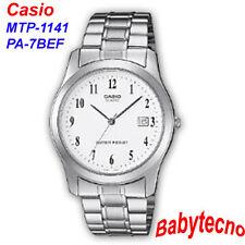 OROLOGIO Casio MTP-1141PA-7BEF Uomo classico cinturino acciaio VETRO DATARIO