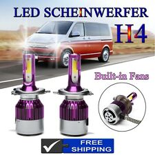 H4 HB2 CREE LED Scheinwerfer Paar Fernlicht Birne CE 200W for VW TRANSPORTER 91