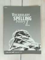 A Beka Book Vocabulary Spelling Poetry 1 Student Quizzes NO writing in book b15
