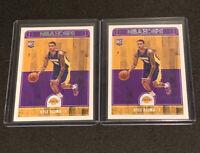 KYLE KUZMA ROOKIE 2017-18 PANINI NBA HOOPS #277 LOS ANGELES LAKERS (2) Card Lot