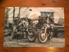 BSA Triumph biker Matchless 3x2 foot mancave flags shed poolroom wall hanging