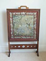 Antique Art Deco Period mahogany Firescreen With Tapestry Panel