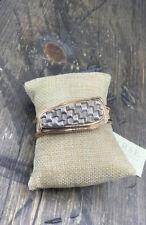 Barse Basketweave Cuff Bracelet- Sterling Silver & Copper- NWT