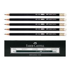 12Pcs 1Dozen Faber-Castell 1112 Black Graphite Pencil HB Rubber Eraser Tip AA
