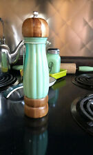 Pioneer Woman Timeless Beauty Jade Green Glass Pepper Mill Grinder  NWT