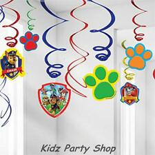 Paw Patrol Birthday Party - 6 Piece Hanging Swirl Decorations  - Free Post UK