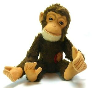 """SCHUCO TRICKY MONKEY YES NO MECHANICAL MOVEMENT BY TAIL. WITH TAG  12"""" TALL"""