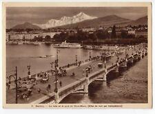 Switzerland; Geneva - Harbour & Bridge Hold To Light Novelty PPC, Posted, 1939