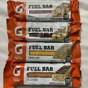 66 Gatorade Protein Bars Chocolate Chip Oatmeal Raisin Honey nutrition energy