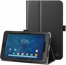 Case for Onn 7 inch Tablet Slim Vegan Leather Folio Stand Cover w/ Pencil Holder